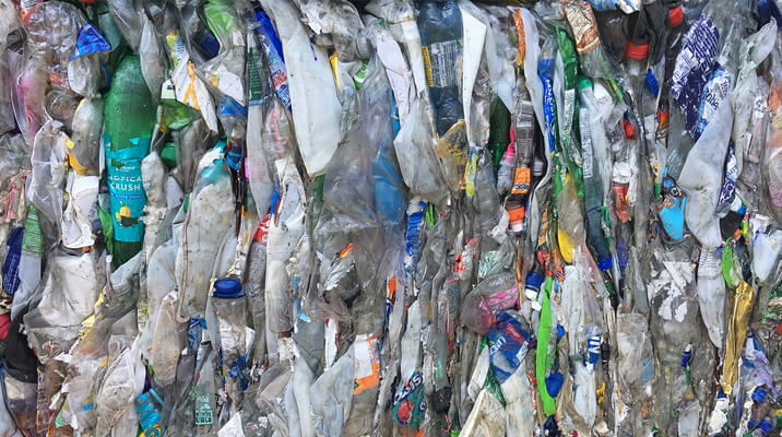 plastic recycling bale