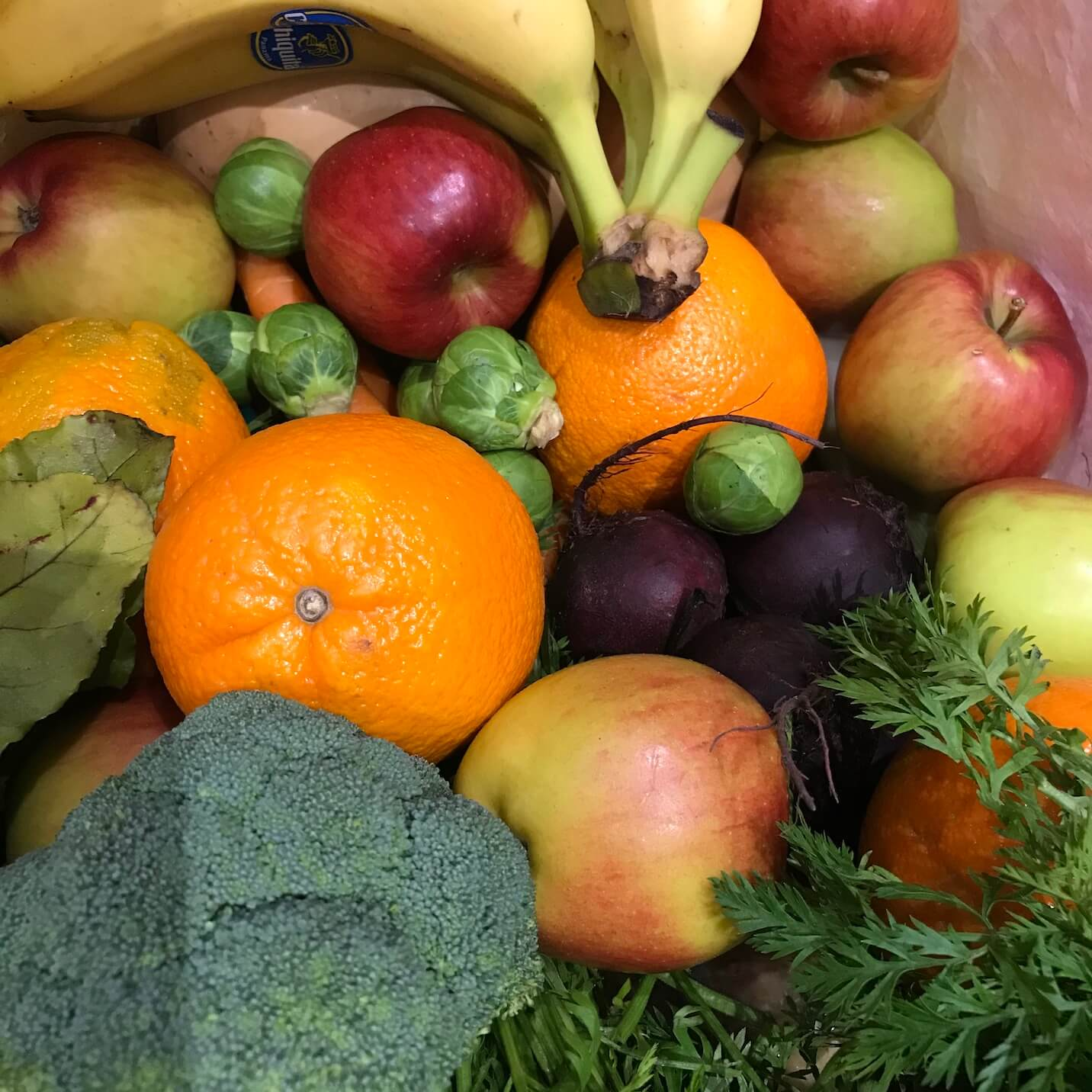Loose fruit and veg